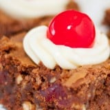 Black Forest Brownies with Toasted Almonds