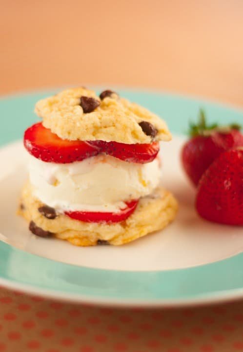 Chocolate Chip Strawberry Ice Cream Cookies - www.platingpixels.com