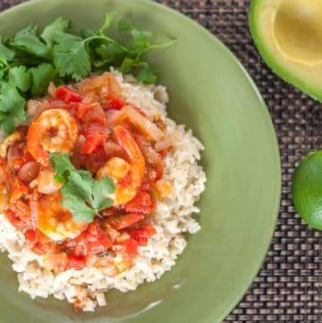 Veracruz Shrimp with Green Olives