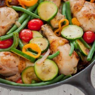 Rustic Herbed Skillet Chicken and Vegetables