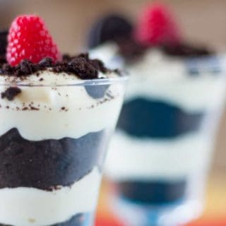 Homemade Cookies and Cream Raspberry Parfait