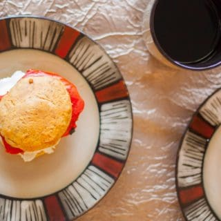 Roasted Red Pepper and Goat Cheese Egg Sandwich
