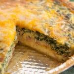 Mushroom, Spinach and Ham Quiche - www.platingpixels.com