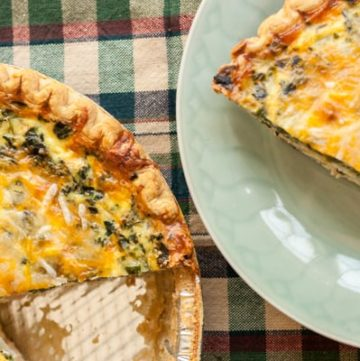 Mushroom, Spinach and Ham Quiche - www.platingpixels.com