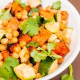 Mediterranean Roasted Sweet Potato and Zucchini Salad - www.platingpixels.com