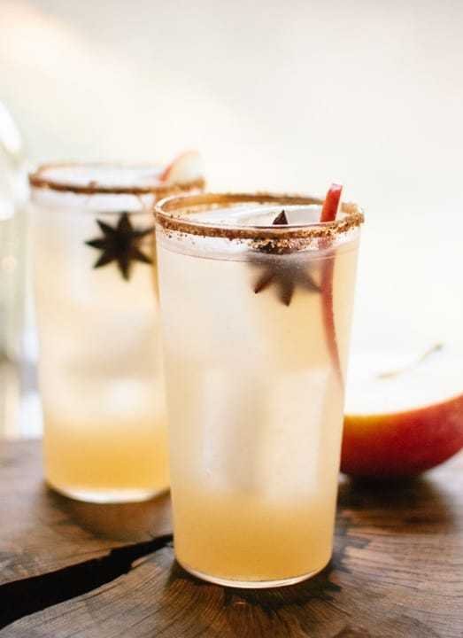 Thanksgiving Recipe Roundup featured on www.PlatingPixels.com - Spiced Apple Margaritas
