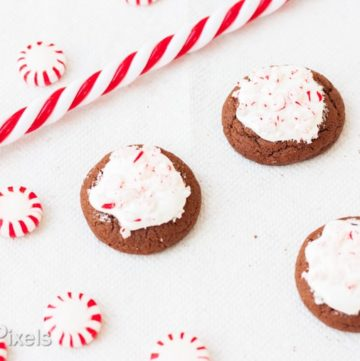 Spiced Hot Chocolate Peppermint Cookies - www.platingpixels.com