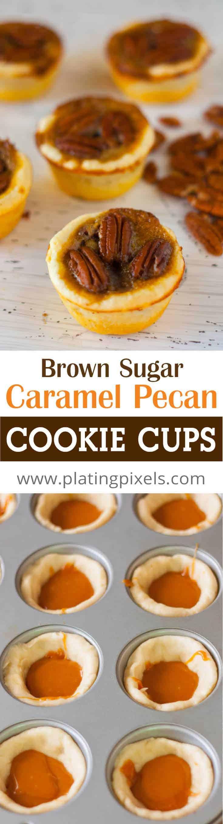 Pecan Tassies with Brown Sugar Caramel Filling