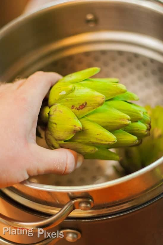How to Steam Artichokes - www.platingpixels.com