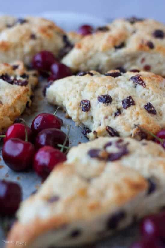 White Chocolate Cranberry Scones recipe - www.platingpixels.com