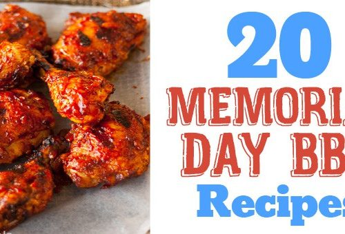 """20 Memorial Day Barbecue recipes. A list of perfect grilled and barbecue recipes to go with your Memorial Day party. Chicken, ribs, burgers, shrimp salmon, pizza, salads, sides, and even a mint martini for extra fun. Memorial Day seems like the official start of summer. What better way to celebrate than a barbecue with friends and family. I'm usually at the grill or camping, or both. I hope you find some favorite barbecue recipes to wow your guests. Are you following me on Pinterest, Facebook, Twitter and Instagram? Also sign up for our newsletter to get all our recipes and cooking tips. 20 Memorial Day Barbecue Recipes 20 Ideas for Your Memorial Day Barbecue - Recipe Roundup by www.platingpixels.com Avocado Pesto and Chicken Mexican Pizza 