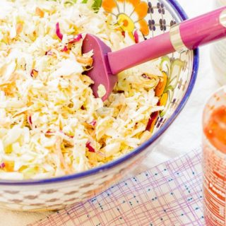 Honey Sriracha Coleslaw (Sweet and Spicy)
