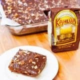 Kahlua Coffee Chocolate Fudge Cake recipe - www.platingpixels.com