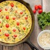 Kale and Feta Frittata recipe - www.platingpixels.com