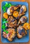 Parsley and Tangerine Marinated Grilled Chicken recipe - www.platingpixels.com