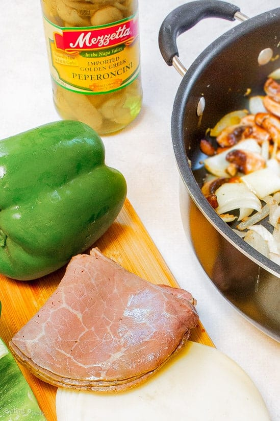 Philly Cheese Steak Stuffed Bell Peppers - www.platingpixels.com