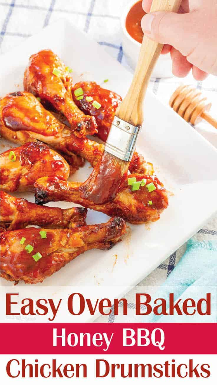 Honey BBQ Baked Chicken Drumsticks