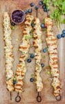 Orange Herb Chicken Kabobs with Blueberry Balsamic Sauce - www.platingpixels.com
