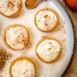 Spiced Apple Cider Cupcakes - www.platingpixels.com