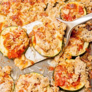 Turkey and Zucchini Spaghetti Nachos