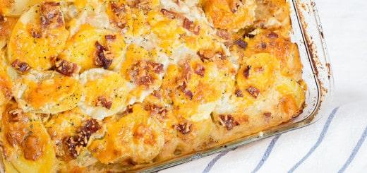 Candied Bacon Au Gratin Potatoes recipe - www.platingpixels.com