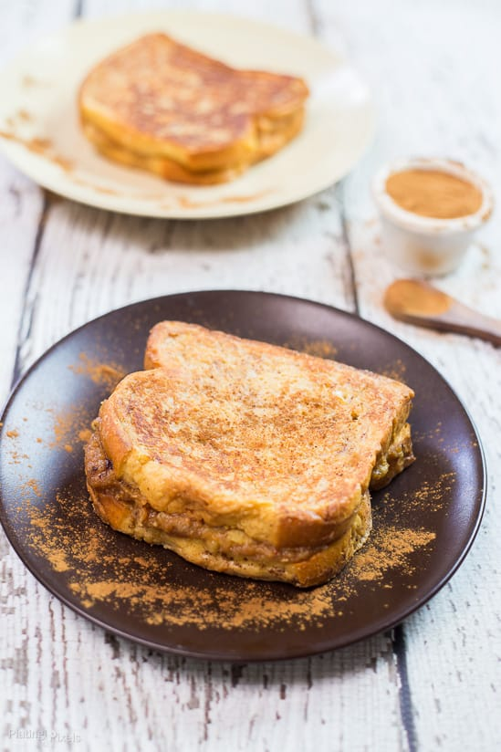 Peanut Butter Banana Stuffed French Toast recipe - www.platingpixels.com