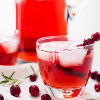 Apple Cranberry Ginger Ale Spritzer