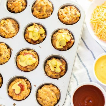 Gluten Free Mini Cheeseburger Muffins recipe - www.platingpixels.com