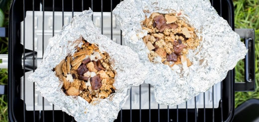 grilled granola s'mores packs recipe for glamping