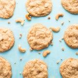Chewy Cashew Toffee Cookies recipe - www.platingpixels.com