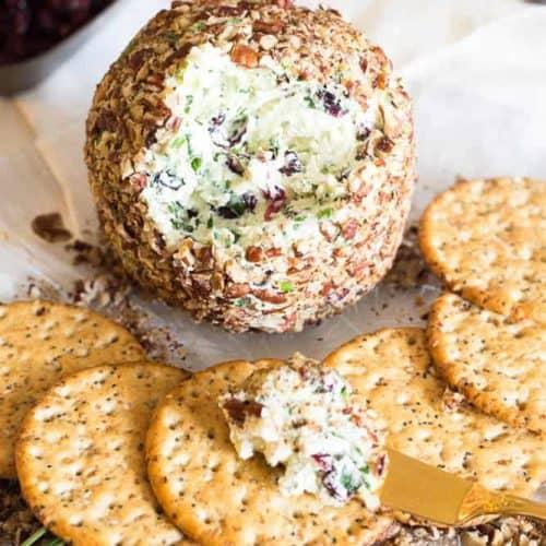 Craisins White Cheddar Cheese Ball