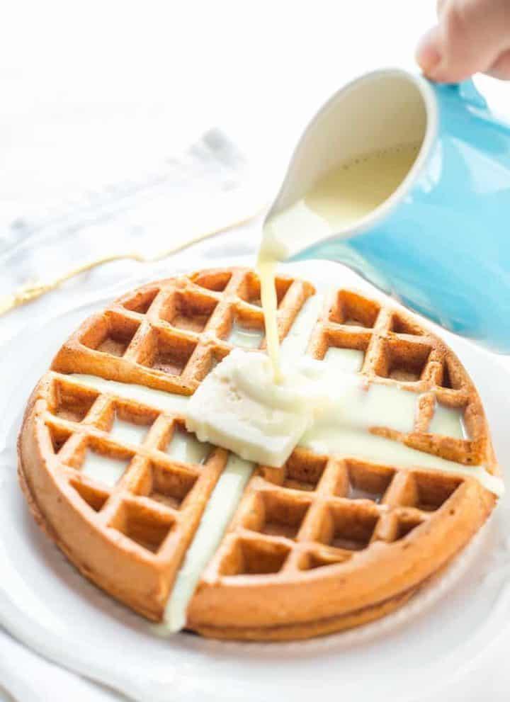 Eggnog Waffles Gluten Free recipe - www.platingpixels.com