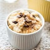 Healthy Homemade Eggnog Rice Pudding recipe - www.platingpixels.com