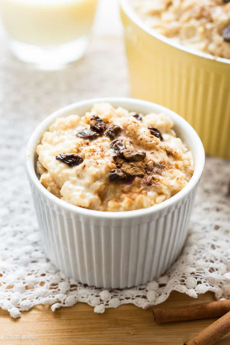 Healthy Homemade Eggnog Rice Pudding recipe - www.platingpixels.com
