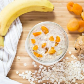Apricot Almond Butter Overnight Oats (Vegan and Gluten Free)