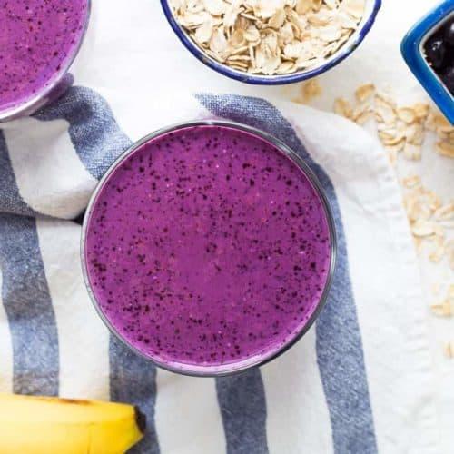 Blueberry Peanut Protein Smoothie