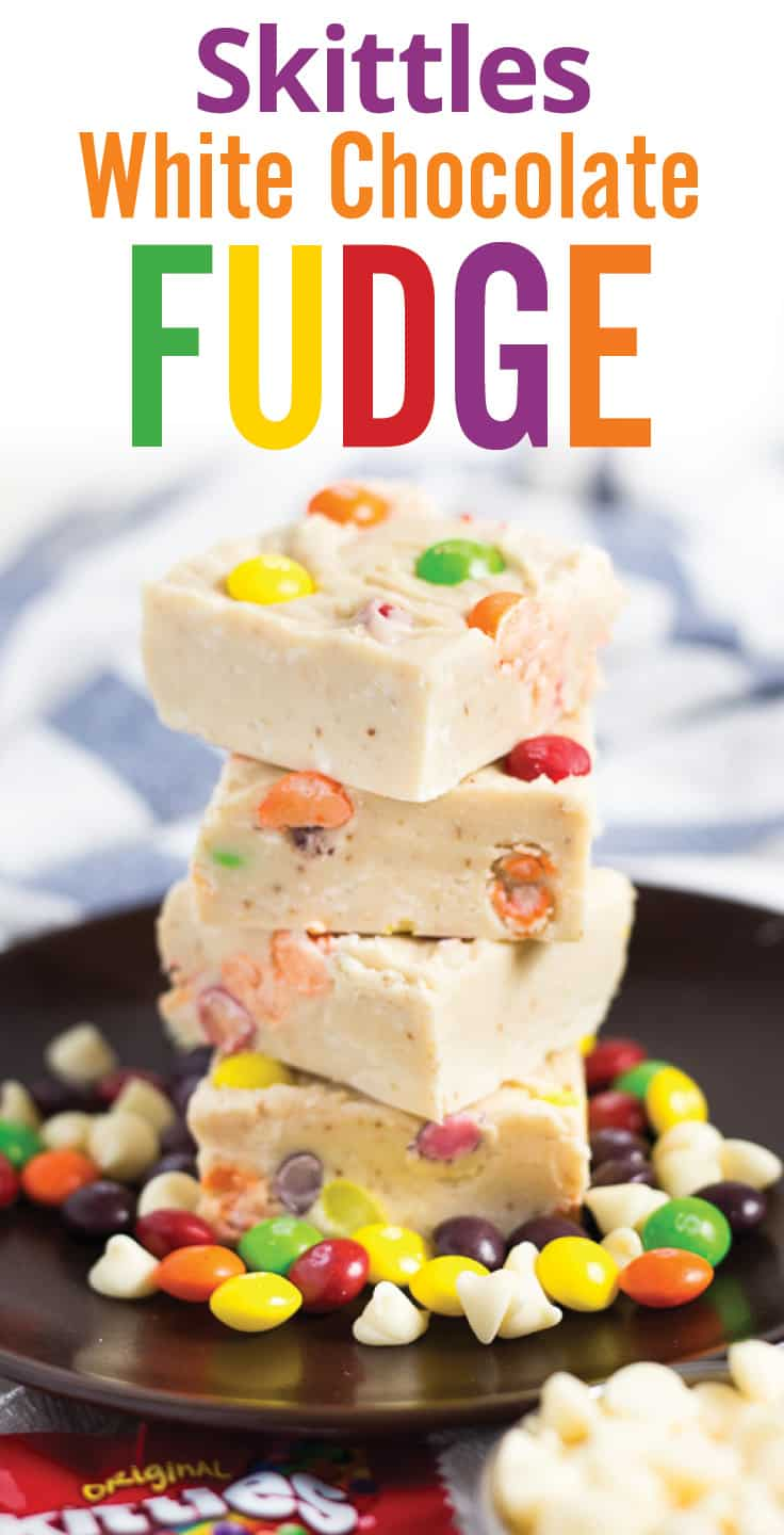 Skittles White Chocolate Fudge recipe - www.platingpixels.com
