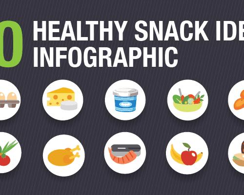Healthy Snack Ideas Infographic - www.platingpixels.com