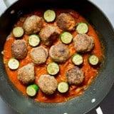 Zucchini and Turkey Meatball Skewers recipe - www.platingpixels.com