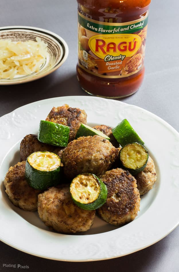 Zucchini and Turkey Meatball Skewers recipe - www.platingpixels.com