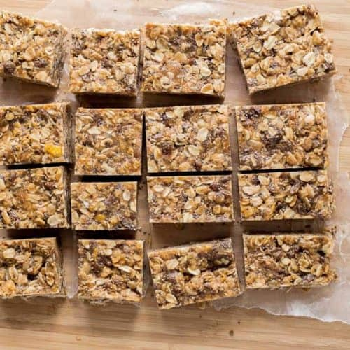 Peanut Butter Cereal Bars (Gluten Free & Vegan)
