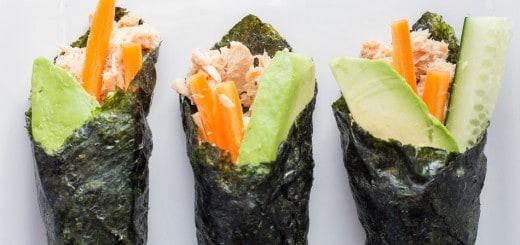 Paleo Tuna Salad Nori Wraps recipe - www.platingpixels.com