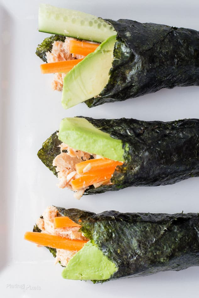 Paleo Tuna Salad Nori Wraps | Homemade Healthy Snack Ideas | Homemade Recipes