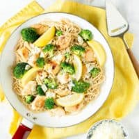 Lemon Chicken Pasta with Brocolli