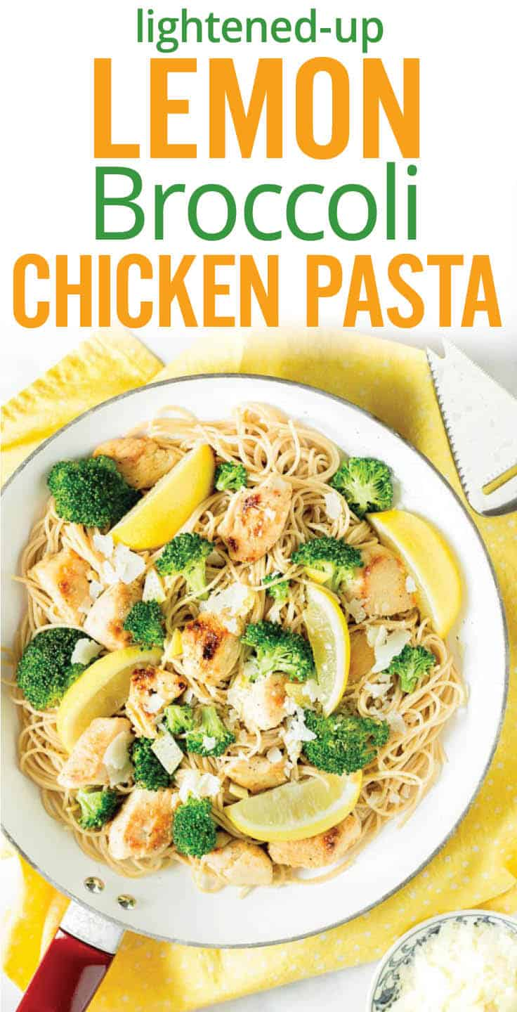Lemon Chicken Pasta with Broccoli