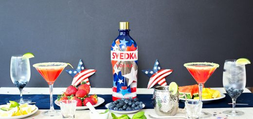 4th of July Cocktail Party Ideas (DIY cocktail bar) - www.platingpixels.com
