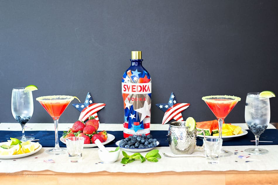 Fun Cocktail Party Ideas Part - 48: 4th Of July Cocktail Party Ideas (DIY Cocktail Bar) - Www.platingpixels.