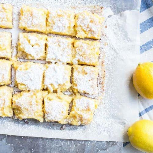 Pineapple Lemon Bars recipe - www.platingpixels.com