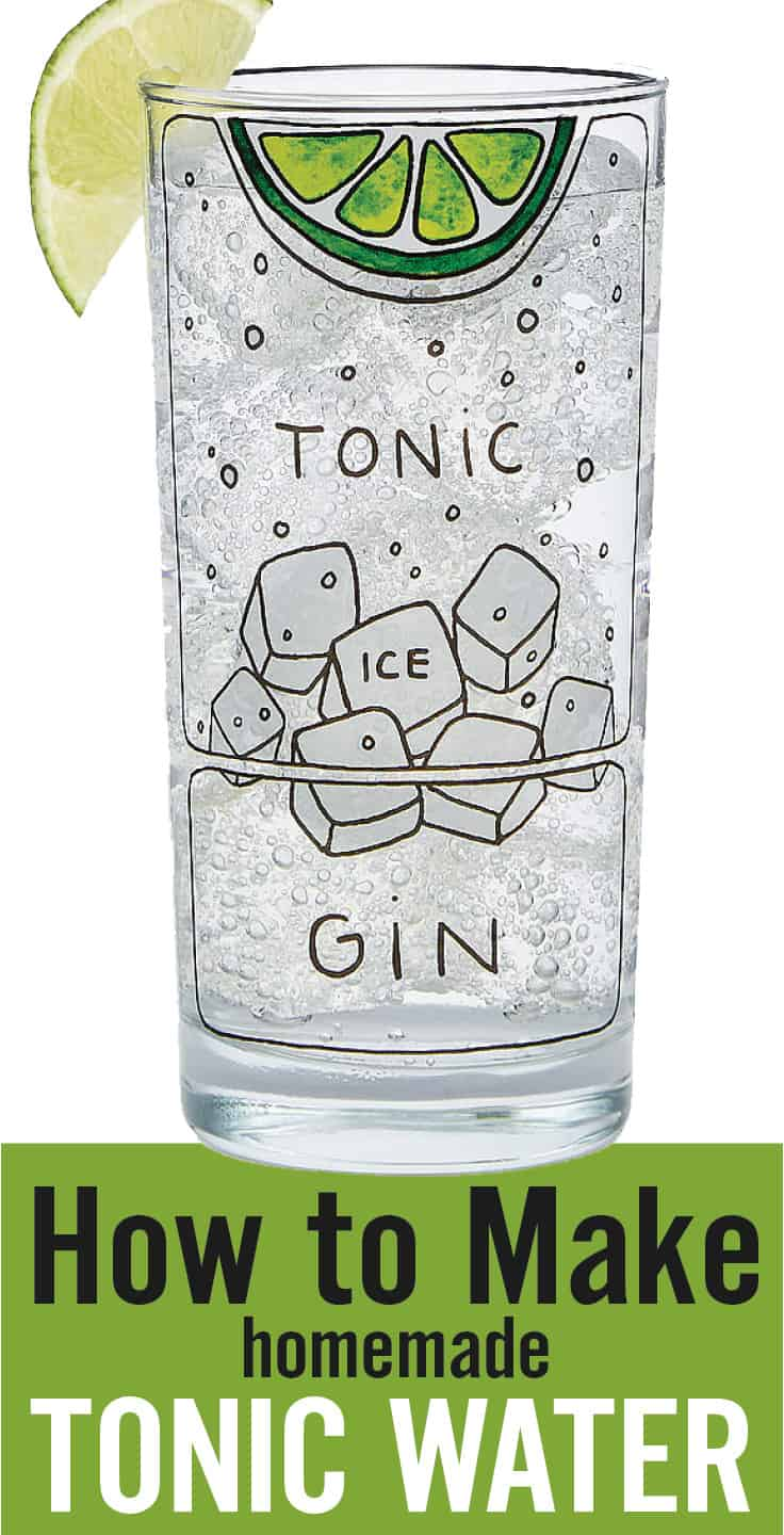 How to Make Tonic Water - cocktail glass image with text overlay