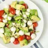 Mozzarella Avocado Caprese Salad recipe - www.platingpixels.com